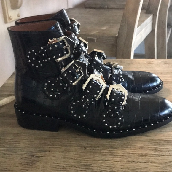 f30fdf475f5 Givenchy Studded Ankle Boots in Croc-effect